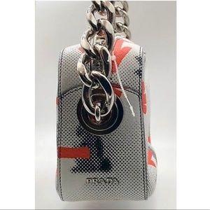 bce0c4f0e545 Prada Bags - PRADA Orange White Bunny-Arrow Print Bag